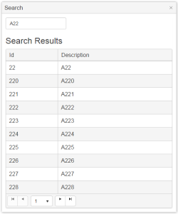 Sample Search Window