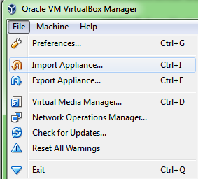 Importing the HDP Appliance