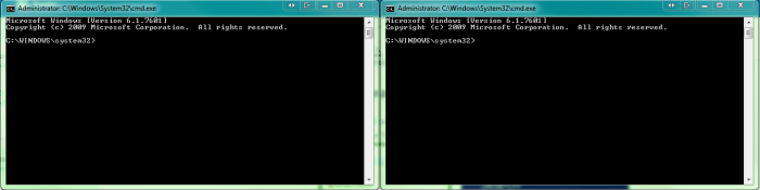 Two Command Windows